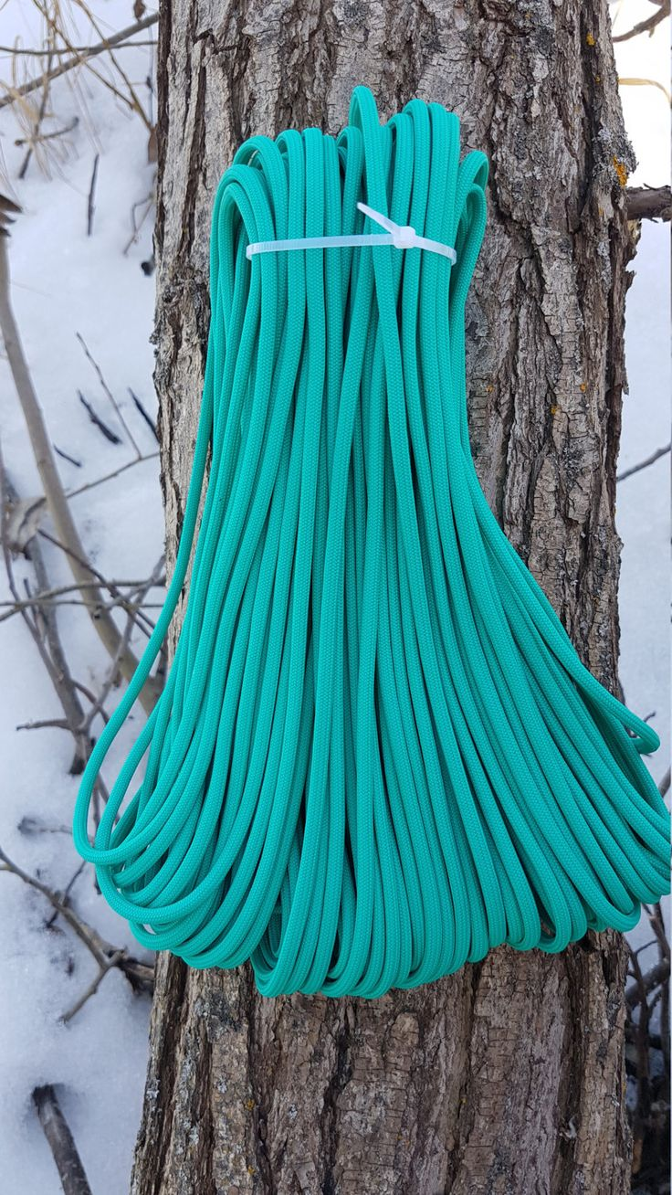 550 Paracord Type III 7 Strand Nylon Parachute Cord Made in the USA Light Teal by BrodsParacord on Etsy