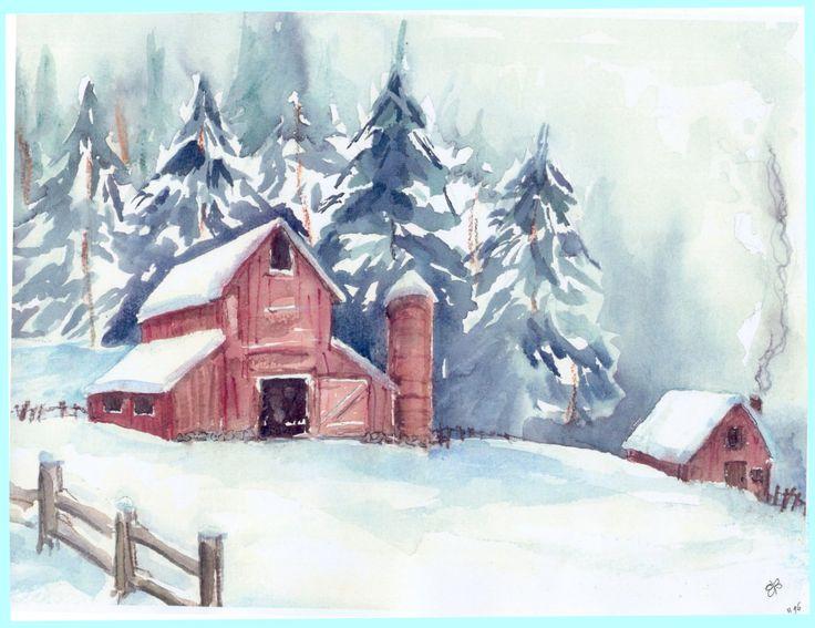 christmass landscape