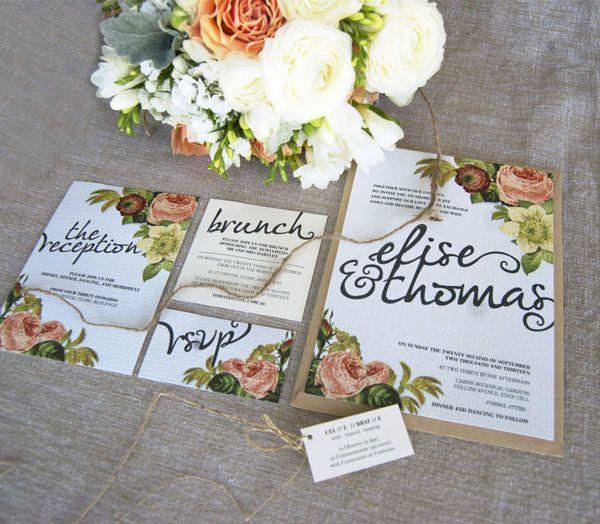 Wedding Suite Design 新婦が大好きなバラの花をモチーフにした結婚式招待状で、当日はデザインを統一したジャムも配られました。