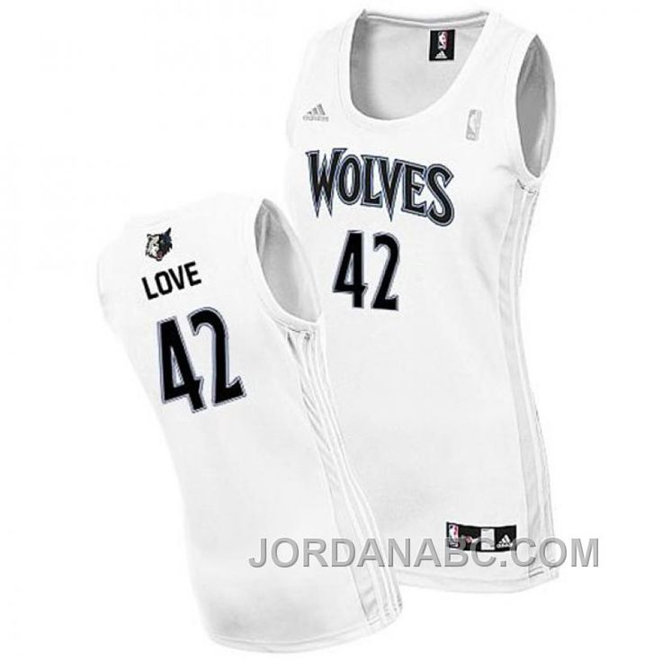 huge discount 57d1e 5d23f women minnesota timberwolves 42 kevin love white swingman jersey