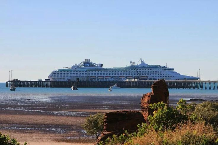 Sea Princess @ Broome wharf, Western Australia by Amanda Paul