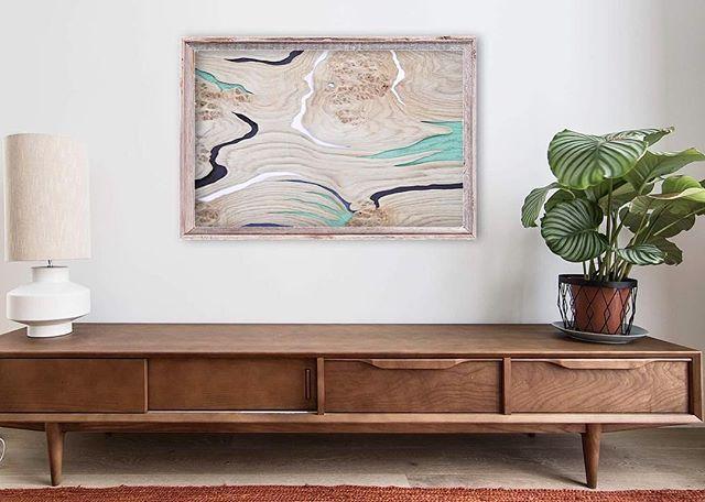 Abstract art creates a soft, modern setting when paired with organic forms such as this live-edge wood table. 🌿PEONY on the wall. Mixed media: oak panel, canvas, acrylic, 40х60cm 🌲#art #wood #woodart #artsy #fineart #interiordesign #artist #color #gold #abstract #abstractart #painting #acrylicpainting #interior #scandinavian #minimalism #wallart #artforsale #contemporaryart #homedecor #designinterior #дизайнинтерьера #интерьер #интерьердома #интерьерквартиры #дизайн