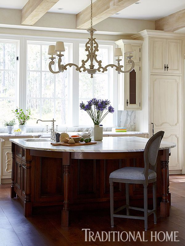 Distressed beams overhead offer the charm and patina of a century old  farmhouse  while a trio of windows and a large dark stained island add  allure 2759 best Kitchens images on Pinterest   Kitchen  Kitchen ideas  . Allure Kitchen And Bath Long Island. Home Design Ideas
