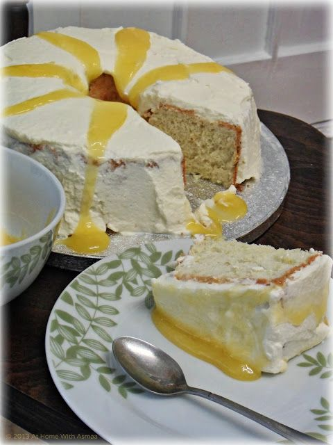 'Angel' Food Cake With Lemon Curd #GBBO