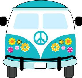Clipart para Fiesta Hippy.