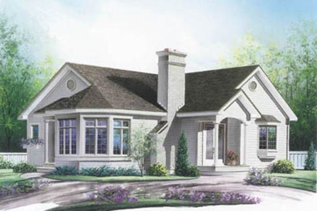 Victorian Style House Plan - 3 Beds 1 Baths 1347 Sq/Ft Plan #23-189 Front Elevation - Houseplans.com