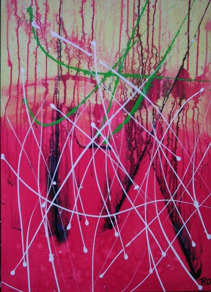 Vuurvliegjes, schilderij van Kuhlmann Kunst, Twan Kuhlmann   Abstract   Modern   Kunst