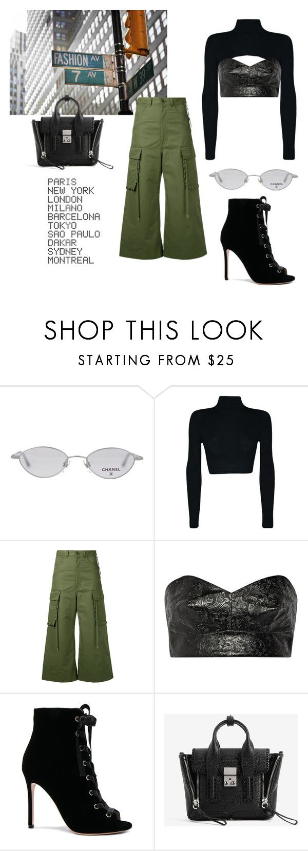 """""""chic le freak"""" by whatiscasual on Polyvore featuring Chanel, G.V.G.V., Toga, Gianvito Rossi, 3.1 Phillip Lim and ADZif"""