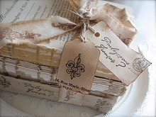 "this is from Petite Michelle Louise blog http://petitemichellelouise.blogspot.com/   I love the ""shabby books"""