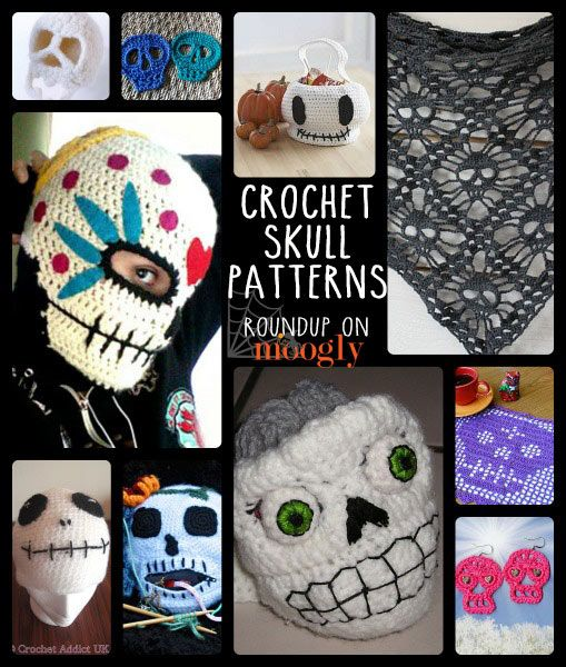 Find 10 Free Crochet Skull Patterns: Perfect for Halloween and the Day of the Dead in this awesome collection by @moogly.