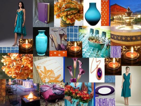 Found On Weddingbee Share Your Inspiration Today Teal Orange Weddings September WeddingsSeptember Wedding ColorsFall WeddingWedding IdeasWedding
