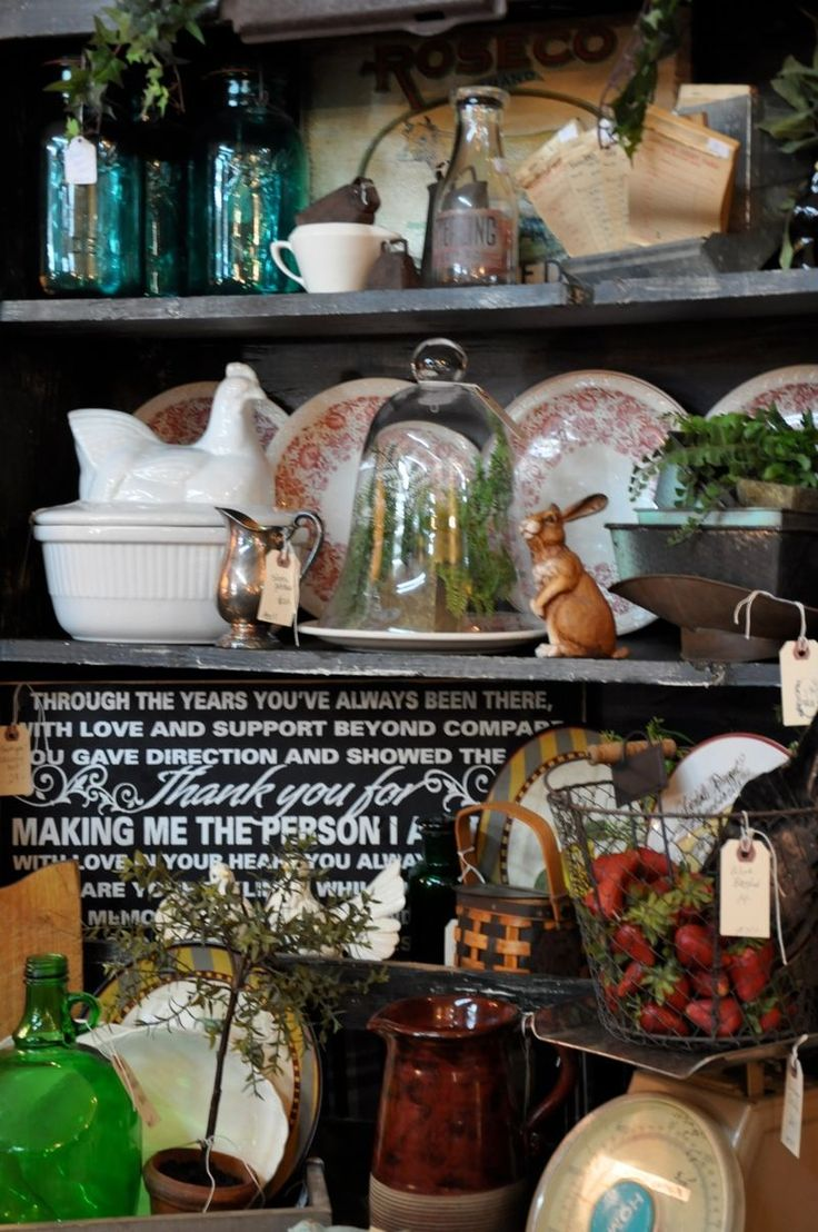 french pantry or kitchen shelf