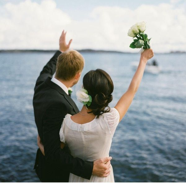 Cute Wedding On A Swedish Island