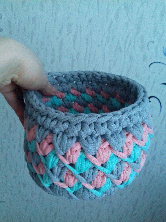 вязанные корзины/корзинки для от KnittedCharmBoutique на Etsy