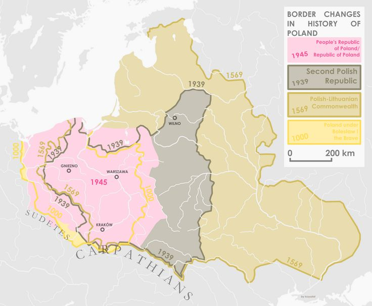 Border changes in the history of Poland