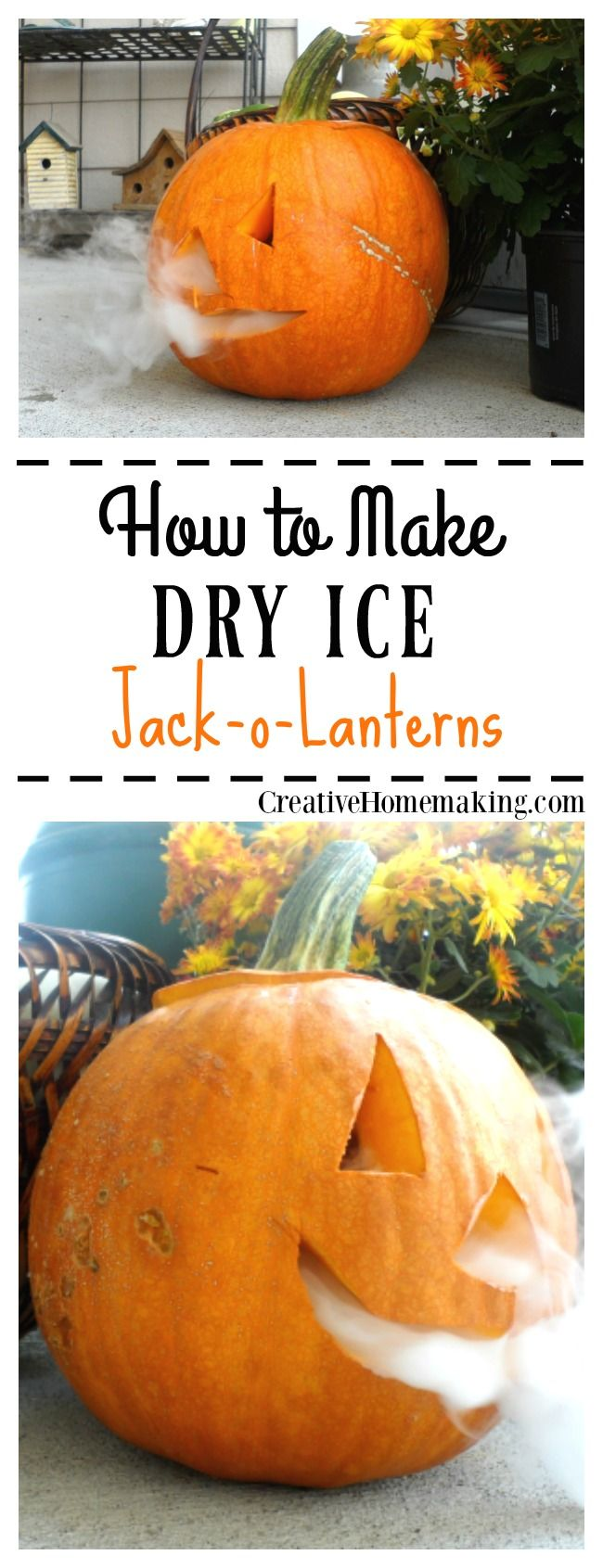This smoking jack-o-lantern is a fun treat to surprise your trick-or-treaters with for Halloween.