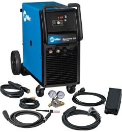 <div>Miller's Syncrowave 210 TIG Welder. Ideal for both light-industrial applications and personal users, the Syncrowave 210 does not compromise power or performance for affordable inverter technology.</div>