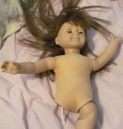How to repair American Girl Dolls. The picture is just scary.