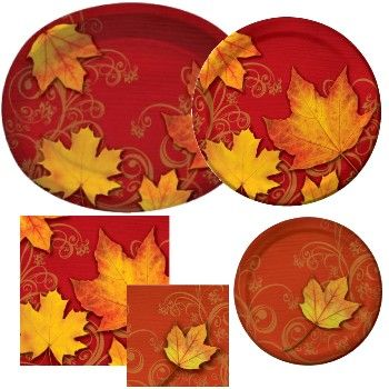 autumn gust party at lewis elegant party supplies plastic dinnerware paper plates and