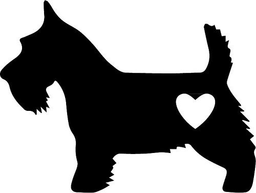 Scottie Love | The Craft Chop  free svg  scottie dog  free file free graphic  cricut and silhouette
