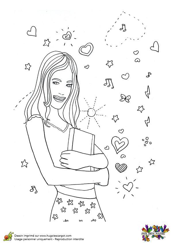 Image à colorier de la jolie Violetta.