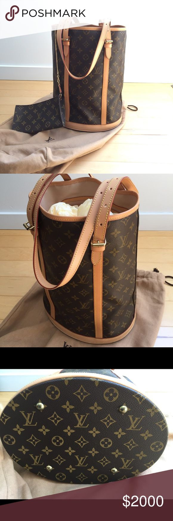 Authentic Louis Vuitton Large Bucket Never used!!!!!! Serious inquires only to buy! Louis Vuitton Bags Shoulder Bags