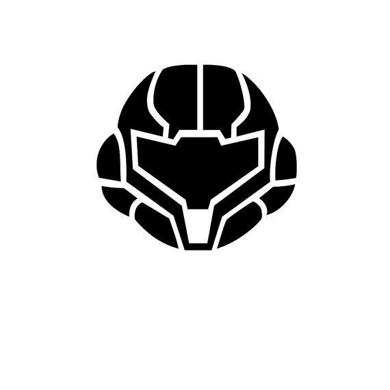 Metroid - Samus's Helm - Decal on Etsy, $5.00 | Stencils ...