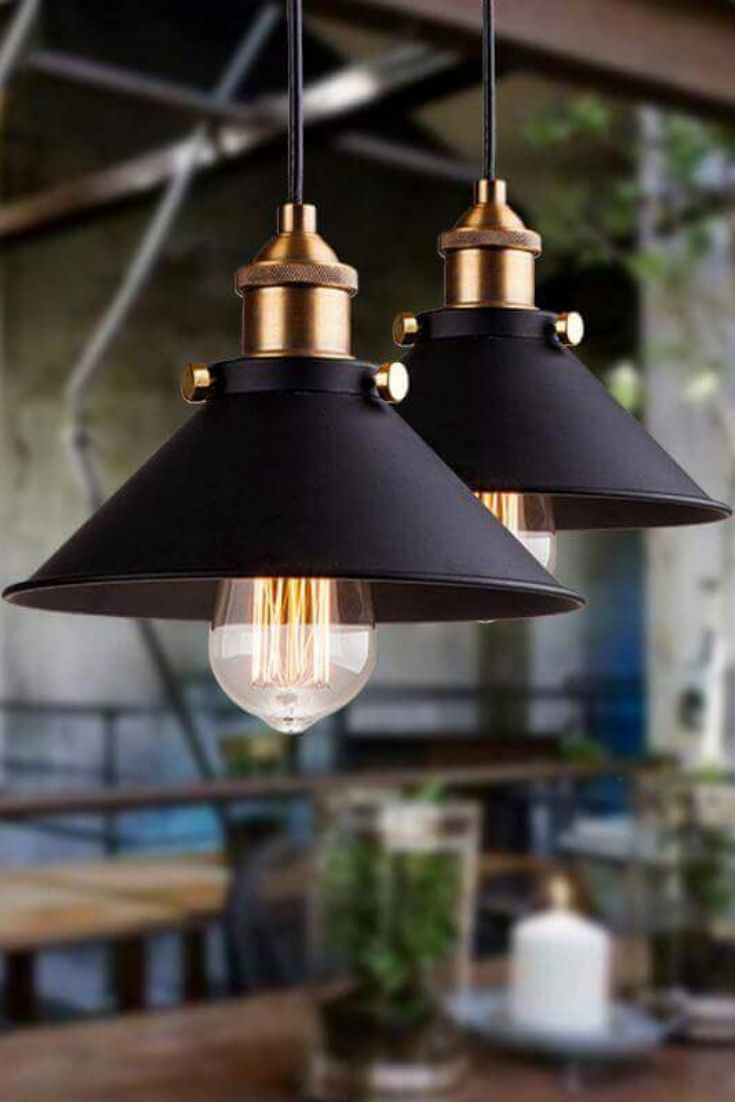 Restaurant Beleuchtung Modern Industrial Hanging Pendant Light #pendantlighting This Posh Modern Industrial Pendant Light Would Be Perfect Above A Br… | Lampe, Vintage Lampen, Beleuchtung