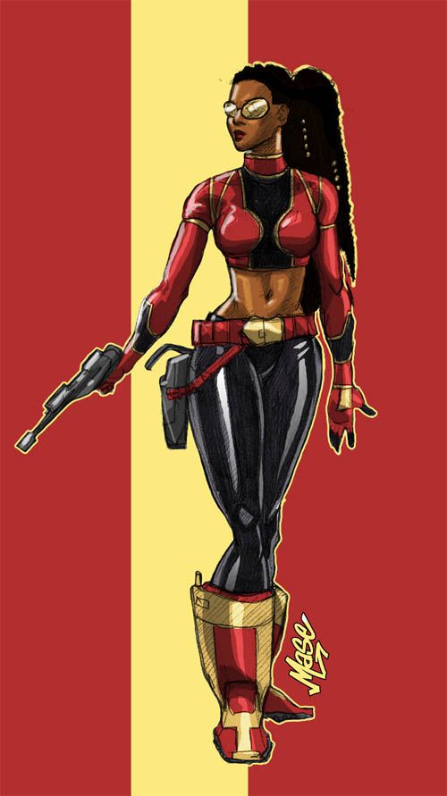 black superheroes | Miranda Mercury