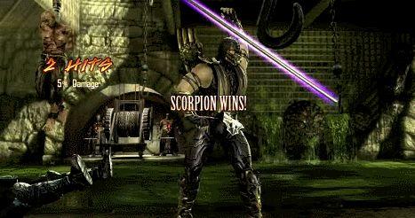 Scorpion doing Jade's finishing move, Mortal Kombat 2011 (NetherRealm/WB) / via YouTube
