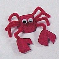 Egg Carton Crab Craft