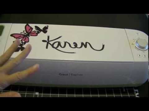 Cricut Explore - How to Cut Out Your Own Handwriting - YouTube