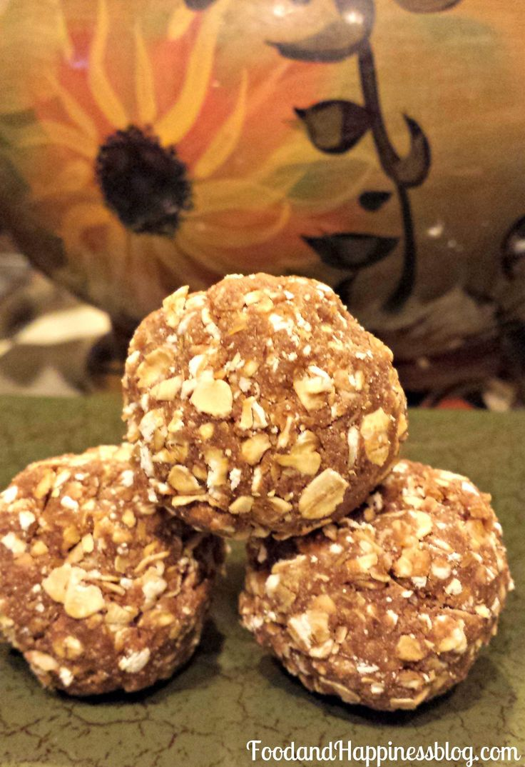 Packed with protein, low in fat, and very filling and satisfying!  PB2 Chocolate and Oat Protein Bites. #FoodandHappiness