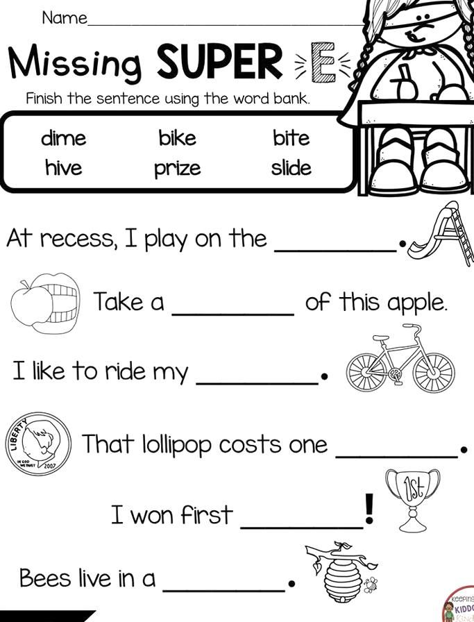 Long Vowel Worksheets Superhero E In Kindergarten Phonics Free Printables And Worksheets Activi In 2020 Phonics Kindergarten Free Phonics Printables Phonics Free