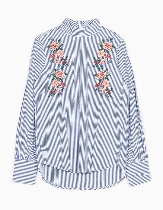 At Stradivarius you'll find 1 Embroidered shirt with Perkins collar for woman for just 8595 Hungary . Visit now to discover this and more VIEW ALL.