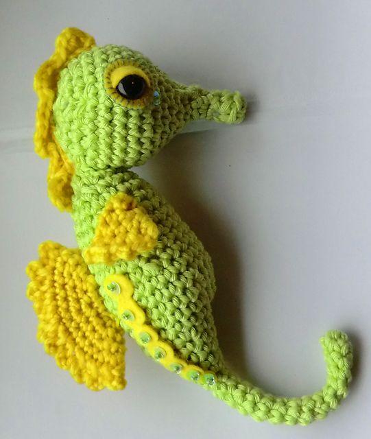 Free Amigurumi Seahorse : Stanley the seahorse amigurumi pattern pattern by Liz Ward