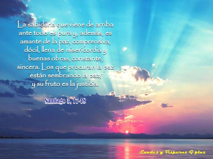 #VÍSPERAS #LectioDivina https://plus.google.com/+KryzalidaBlogspotLAUDESyVÍSPERAS/posts/ELCJzSYsJNY Himno: VERBO DE DIOS, ETERNA LUZ DIVINA Salmo 122 - EL SEÑOR, ESPERANZA DEL PUEBLO Ant. Nuestros ojos están fijos en el Señor, esperando su misericordia Salmo 123 Ant. Nuestro auxilio es el nombre del Señor, que hizo el cielo y la tierra Ant Dios nos ha destinado en la persona de Cristo a ser sus hijos Ef 1, 3-10 St 3, 17-18 RESPONSORIO Cántico de María. ALEGRÍA DEL ALMA EN EL SEÑOR Lc 1,