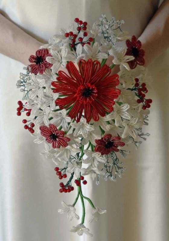 #Beaded flower teardrop bouquet ... Wedding ideas for brides & bridesmaids, grooms & groomsmen, parents & planners ... https://itunes.apple.com/us/app/the-gold-wedding-planner/id498112599?ls=1=8 … plus how to organise an entire wedding, without overspending ♥ The Gold Wedding Planner iPhone App ♥