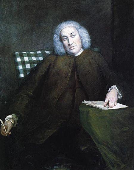 Samuel Johnson peint par Joshua Reynolds 1756 - (1709-1784), poète, critique, essayiste et lexicographe anglais, l'une des figures majeures des lettres anglaises du XVIIIe siècle.