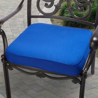 Indoor  Outdoor 19  Chair Cushion with Sunbrella Fabric Solid Bright38 best New House images on Pinterest   Outdoor furniture  Chaise  . Royal Blue Outdoor Seat Cushions. Home Design Ideas