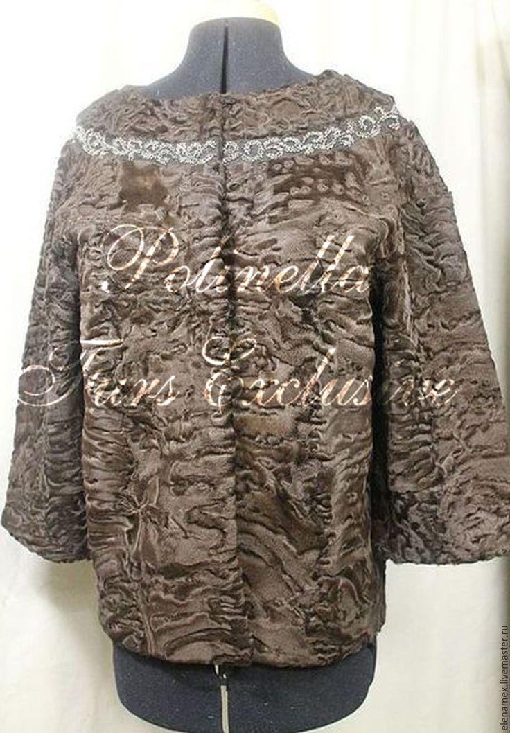 Купить Жакет из каракуля swakara - жакет женский, жакет ручной работы, полушубок, жакет с вышивкой