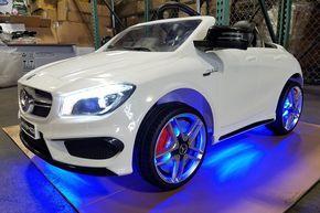 Mercedes CLA45 12V Kids Ride-On Car MP3 USB Player Battery Powered Wheels R/C Parental Remote   White