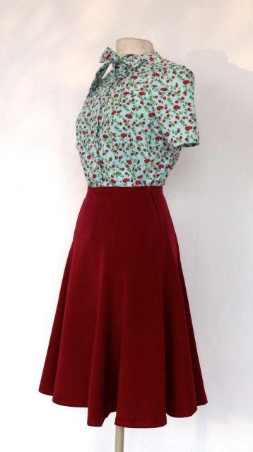 1940's skirt Bugle Boy, retro Lindyhop A-line skirt, made to measure vintage… …
