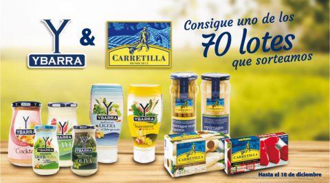 ¡Ybarra y Carretilla sortean 70 lotes de Productos esta Navidad!