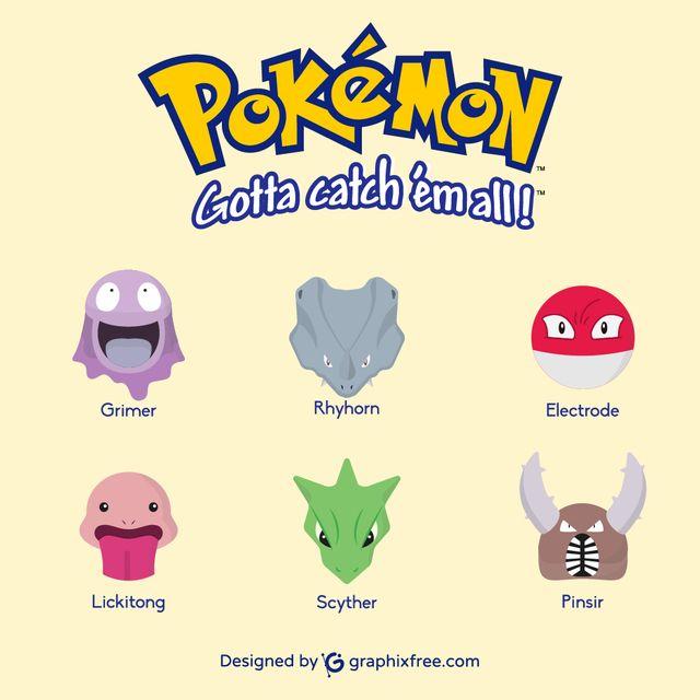 Pokemons: Grimer, Rhyhorn, Electrode, Lickitong, Scyther, Pinsir - #pokemons #go #pokemongo #grimer #rhyhorn #electrode #lickitong #scyther #pinsir #games #gaming #manga #shinypokemon #nintendo #cosplay #catch #pokemoncard #collecting #park