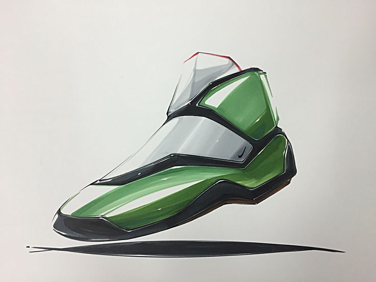 Shoes marker rendering on Behance