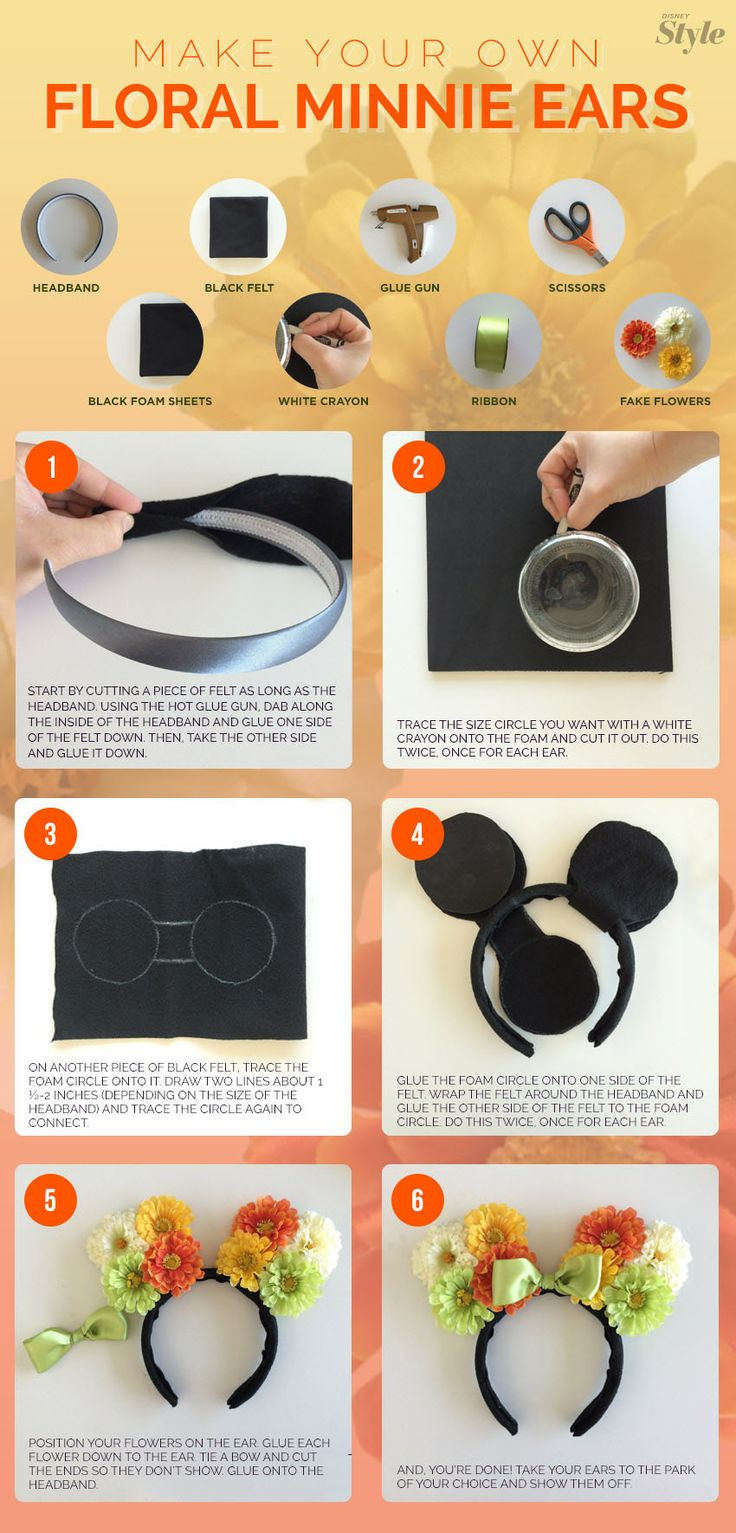 A step-by-step guide to making your own Minnie Mouse ears - I just think these are so darling and fun! :)