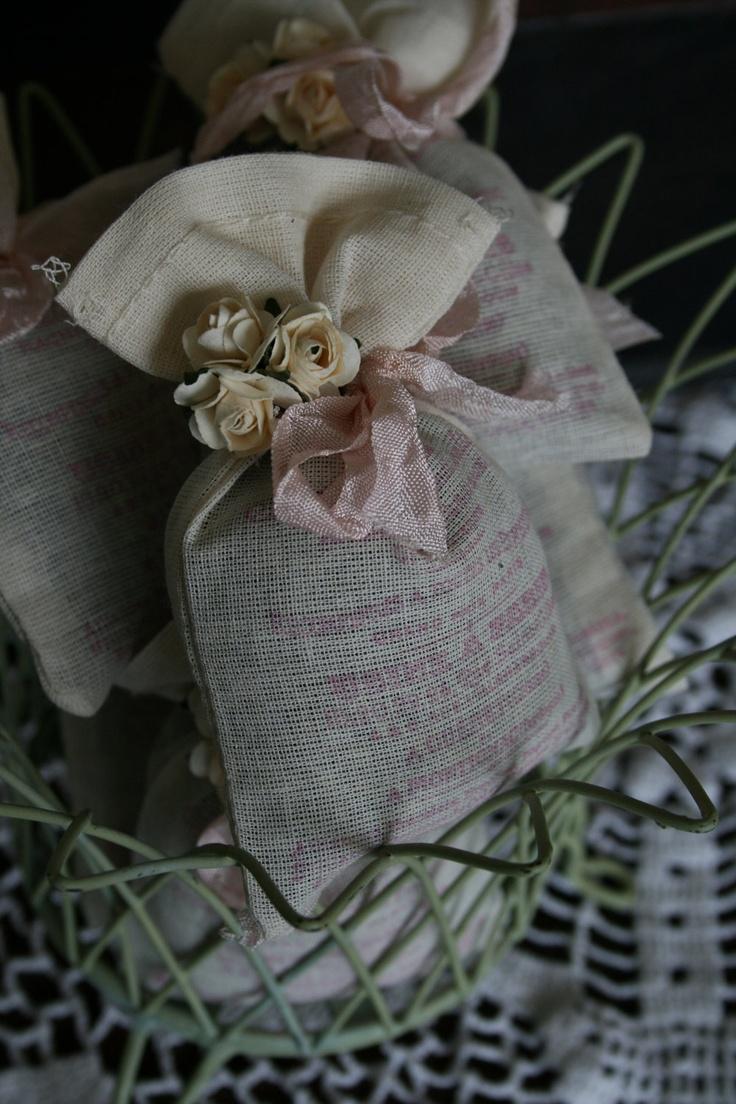 WEDDING FAVOR -  Bridal Shower Favor - Lavender or Tea filled sachet - French, Rustic, Wonderland, Woodland, Beach, Vintage