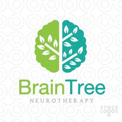 #logo Brain Tree   Neurotherapy - #Purchase unique logo in: http://stocklogos.com/user/rossini