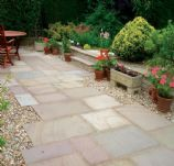 *Special Offer* Natural Paving-Riven Sandstone 'Finestone'-Lakeland-PAVING SLABS, MIXED SIZE (22.8m2)